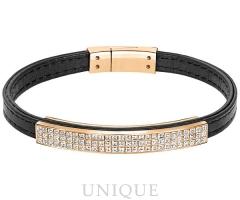 Swarovski Crystal Vio Thin Leather Bracelet