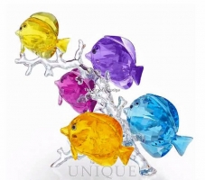 Swarovski Crystal Rainbow Fish Family