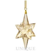 Swarovski Crystal Star Ornament, Gold Tone, large