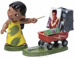 Walt Disney Classics Collection Lilo and Wagon with Elvis