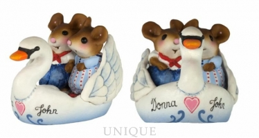 Wee Forest Folk Swanboat Sweethearts Personalized