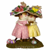 Wee Forest Folk Mousey's Easter Bonnets