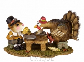 Wee Forest Folk Turkey at Dinner!