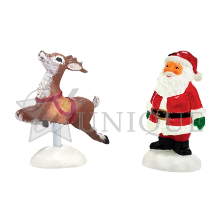 Lit Santa Yard Décor, Set of 2