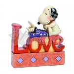 Snoopy LOVE Word Fig