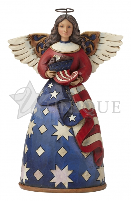 Patriotic Angel in Flag Dress