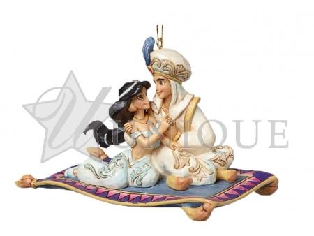 Princess Jasmine and Aladdin Ornament