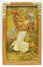 Rose Beauty Bass Relief Plaque