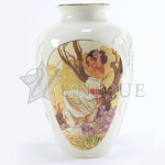 Iris in Bloom Vase