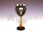 Goblet with skull and peral