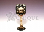 Goblet with skull and bones