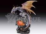 Dragon with crystal LED light