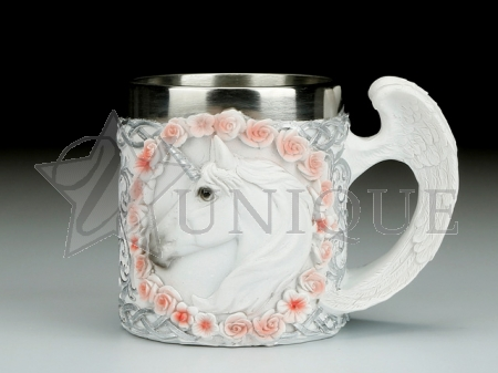 Mug - unicorn and wings handle