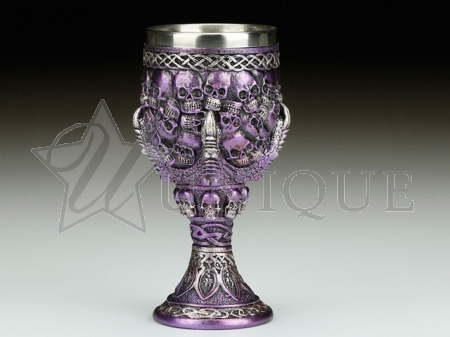 Goblet - claw and skull, purple
