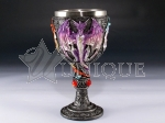 Chalice - blue,purple and red dragons