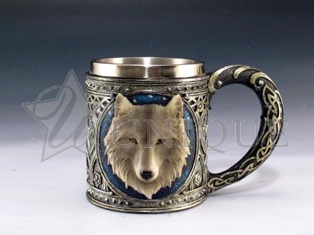Wolf head mug