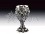 Goblet - Silver skull face