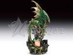 Green dragon with LED egg and baby