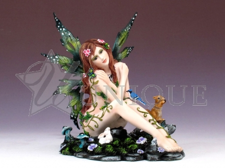 Sitting fairy with butterfly.