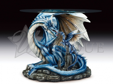 Blue dragon family table