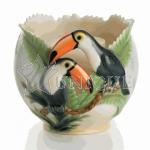 Paradise Calls (toucan): Candleholder