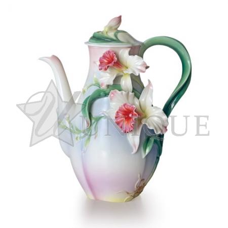 Tea for Two Orchids: Porcelain Teapot