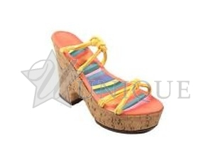 Cork Wedge Tangerine