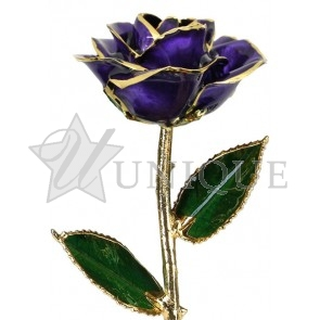 Purple Rose Trimmed in 24k Gold (October)