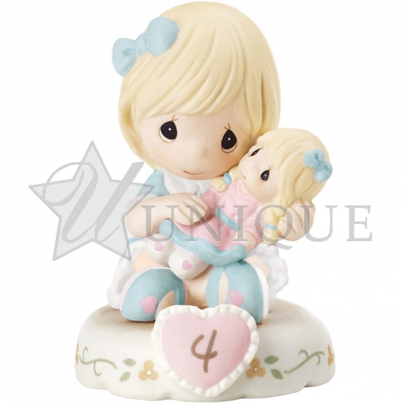 """Growing In Grace Age 4"" Blonde Girl Figurine"