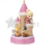 """Cinderella Castle"" Resin Music Box, LED Lights"