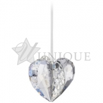Christmas Ornament Heart, Crystal Moonlight