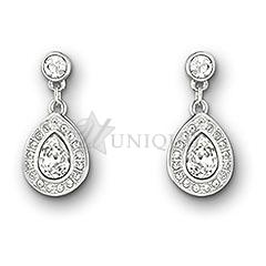 d753a164b Swarovski Crystal: Sensation Pierced Earrings Small - Unique Gifts