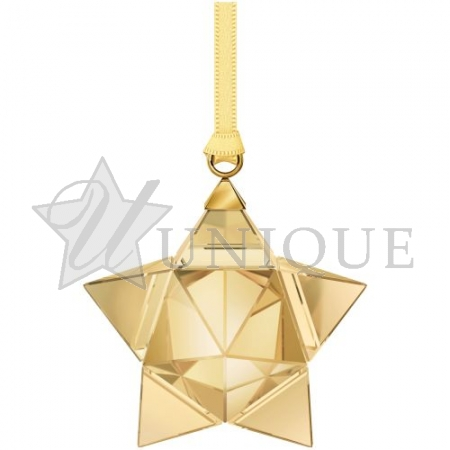 Gold Tone Star Ornament, Small